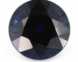 1.11 ct Round Blue Sapphire: Deep Darkish Blue