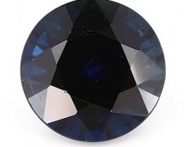 1.11 ct Round Blue Sapphire: Deep Darkish Blue