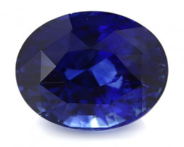 2.22 ct Oval Blue Sapphire: Rich Royal Blue