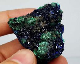 297Crt Natural Royal Blue Azurite & Green Malachite Mineral Specimen JI82