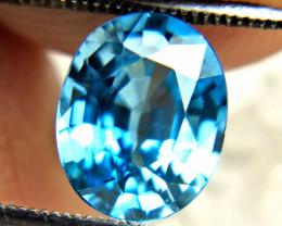 3.90 Carat Blue Southeast Asian Zircon - Gorgeous