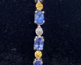 (6) Stunning  Natural 12.63tcw. Sapphire Bracelet Heated Only
