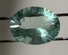 ⭐5.16ct  Concave Trillion Cut Fluorite No Reserve