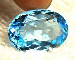 24.34 Carat Blue Brazilian Topaz - Gorgeous