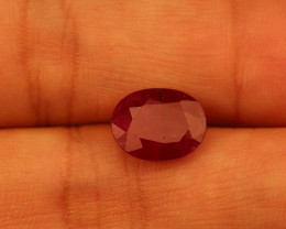 **No Reserve** 3.8ct Oval-Cut Ruby