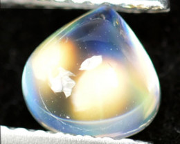 1.04Ct Natural Royal Rainbow Moonstone Heart 6mm Cab
