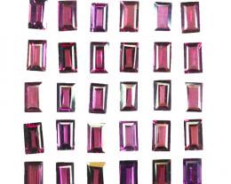 10.83 Cts Natural Grape Garnet 5x3mm Baguette Cut 30Pcs Mozambique