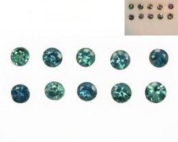 1.10 Cts Natural Color Change Alexandrite Round Cut 10Pcs Parcel