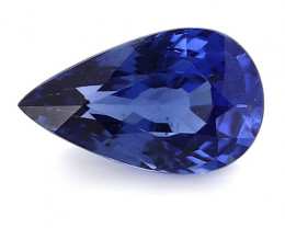 1.17 ct Pear Shape Blue Sapphire: Royal Blue