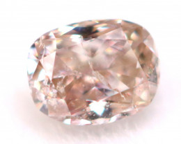 Pink Diamond 2.74mm Natural Peach Pink Fancy Diamond C1722