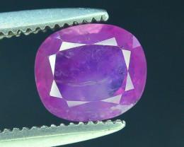 Top Clarity & Color 1.05 ct Rarest Pink Corundum Sapphire