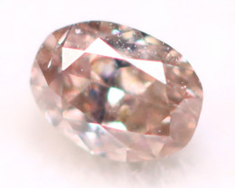 2.85mm Natural Untreated Fancy Champagne Pink Color Diamond A1729