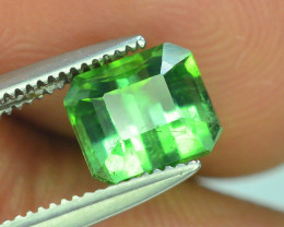Top Grade 1.45 ct Lagoon Green Tourmaline Afghanistan