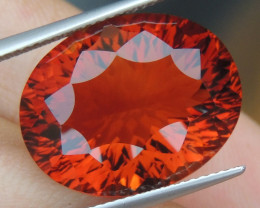 "16.33cts ""Red Citrine"" BIG Size, Top Polish"