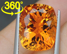 "9.17cts ""Sunkist Orange"" Citrine, Precision Cut"