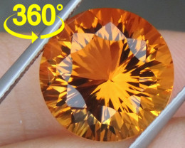 "9.42cts ""Sunkist Orange"" Citrine, Precision Cut"