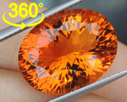 11.98cts *Crayola Orange* Citrine, Top Precision Cut