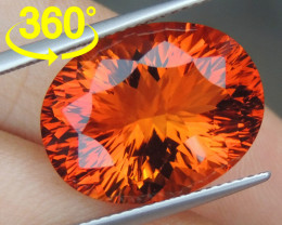 14.41cts *Crayola Orange* Citrine, Top Precision Cut