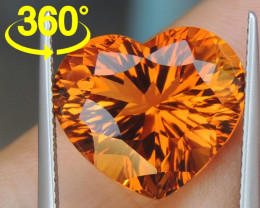 11.46cts *Crayola Orange* Citrine, Top Precision Cut