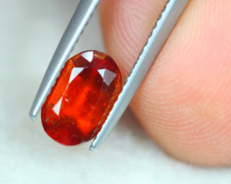 1.73ct Natural Hessonite Garnet Oval Cut Lot GW5202