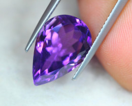 6.67Ct Natural Purple Amethyst Pear Cut Lot LZ5567