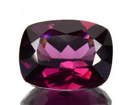 2.20 Cts Natural Grape Garnet Purplish Pink Cushion Cut Mozambique