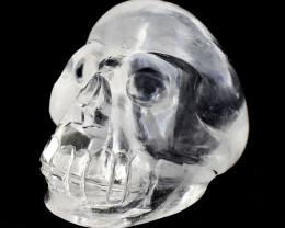 Genuine 915.00 Cts White Quartz Hand Carved Human Skull
