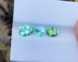 2.70 Ct Natural Green & Sea Foam Color Tourmaline Gems Parcels