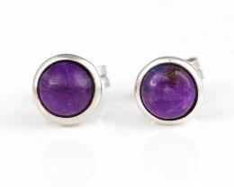 Hot Sale Natural Sugilite Gemstone Earrings, 925 Sterling Silver Findings J