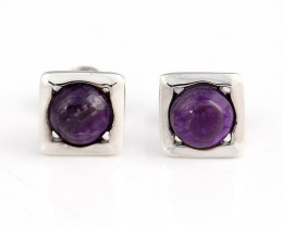 7cts Hot Sale Natural Sugilite Gemstone Earrings, 925 Sterling Silver Findi