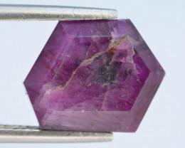 Rarest 6.40 ct Trapiche Pink Kashmir Sapphire ~ AD