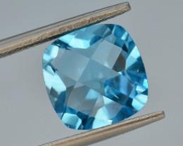 Brillient Cut 4.85 ct Top Color Blue Topaz ~ Swiss