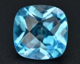 Brillient Cut 4.80 ct Top Color Blue Topaz ~ Swiss