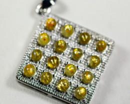 Natural Golden Titanium Rutilated Quartz Pendant