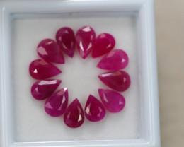 5.51Ct Natural Ruby Pear Cut Lot B1212