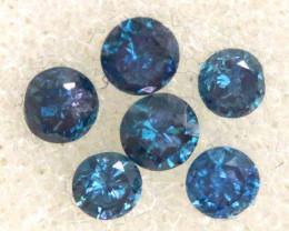 0.135 Cts Blue Diamonds brilliant cut  parcel  SD-396