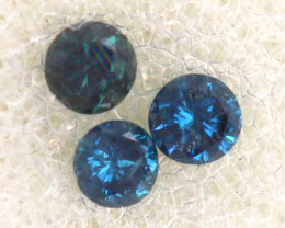 0.05 Cts Blue Diamonds brilliant cut parcel  SD-398