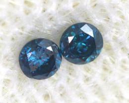 0.07 Cts Blue Diamonds brilliant cut parcel  SD-400