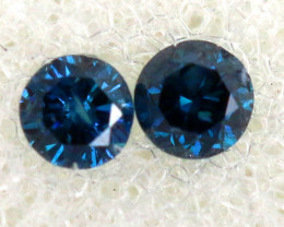 0.06 Cts Blue Diamonds brilliant cut  parcel SD-401