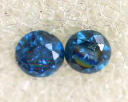 0.04 Cts Blue Diamonds brilliant cut parcel  SD-403