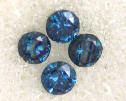 0.05 Cts Blue Diamonds brilliant cut parcel  SD-404