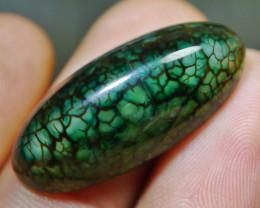 24.05 CT Beautiful Green Dragon Skin Chalcedony Agate