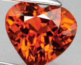 1.09ct Hot Fanta Mandarin Spessartite Garnet  Heart