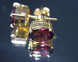 Umbalite 5.00ct Solid 18K Yellow Gold Earrings
