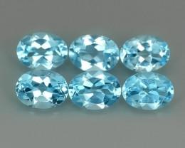 9.05 cts swiss Blue Topaz 8X6 mm oval parcel