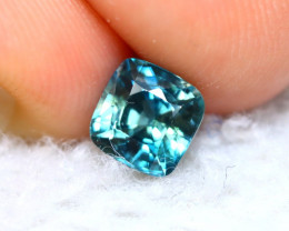 Blue Zircon 1.42Ct Natural Greenish Blue Cambodian Blue Zircon D1932