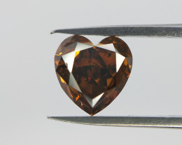 Valentines Gift , Rare Heart Brilliant Cut Diamond ,  0.70 cts