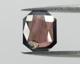 Extremely Rare Reddish Pink Color Diamond , Rare Radiant Rose Cut Diamond ,