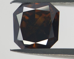 Rare Dark Cognac Diamond , Radiant Cut  Diamond  , 0.35 cts