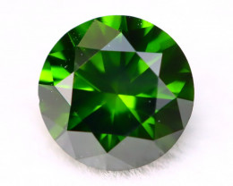 0.41Ct VS Natural Round Brilliant Cut Vivid Green Diamond A1931